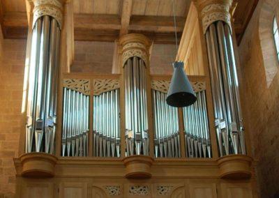 Orgel im Morgenlicht gerade schmal reduziert